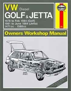 Haynes Reparationshandbok, VW Golf & Jetta Mk 1 Diesel