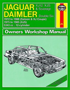 Haynes Reparationshandbok, Jaguar XJ12, XJS & Sovereign, Jaguar XJ12, XJS & Sovereign; Daimler Double Six