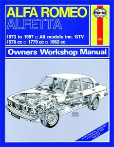Bildel: Haynes Reparationshandbok, Alfa Romeo Alfetta, Universal
