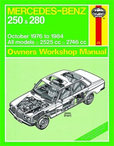 Haynes Reparationshandbok, Mercedes-Benz 250 & 280 123 Serie, Mercedes-Benz 250 & 280 123 Series Petrol
