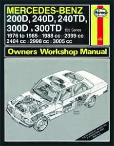 Haynes Reparationshandbok, Mercedes-Benz 200D-300TD, 123D, Mercedes-Benz 200D, 240D, 240TD, 300D & 300TD 123 Diesel