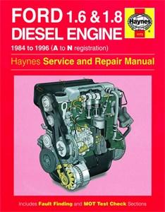 Haynes Reparationshandbok, Ford 1.6 & 1.8 litre Diesel, Universal