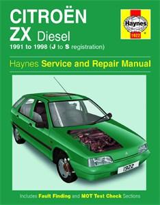 Haynes Reparationshandbok, Citroën ZX Diesel, Universal