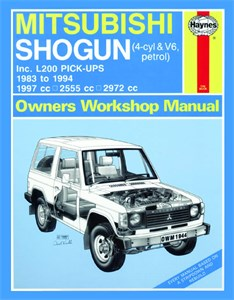 Haynes Reparationshandbok, Mitsubishi Shogun & L200, Mitsubishi Shogun & L200 Pick-Ups Petrol