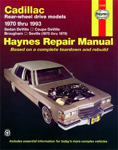 Haynes Reparationshandbok, Cadillac Rear-wheel drive