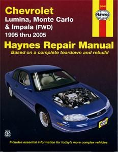 Haynes Reparationshandbok, Chevrolet Monte Carlo, Impala FWD, Chevrolet Lumina, Monte Carlo & Impala (FWD)