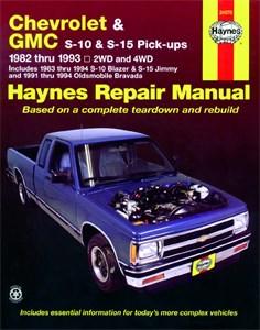 Haynes Reparationshandbok, Chevrolet S10 & S-15, Oldsmobile, Chevrolet S-10 & GMC S-15 Pick-ups, & Oldsmobile Bravada