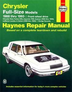 Bildel: Haynes Reparationshandbok, Chrysler Full-Size (FWD), Universal