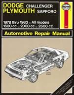 Haynes Reparationshandbok, Dodge Challenger Plymouth Sapporo, Dodge Challenger & Plymouth Sapporo