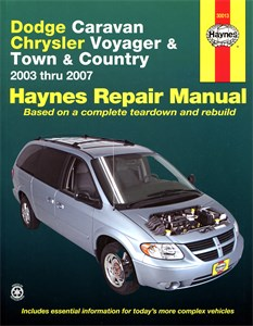 Bildel: Haynes Reparationshandbok, Caravan, Voyager & Town, Country, Dodge Caravan, Chrysler Voyager and Town & Country