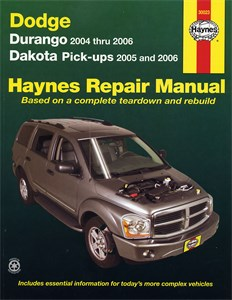 Haynes Reparationshandbok, Dodge Durango & Dakota Pick-ups