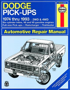 Bildel: Haynes Reparationshandbok, Dodge Full-Size Pick-up