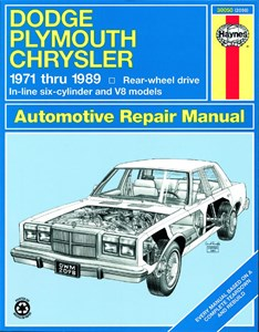 Bildel: Haynes Reparationshandbok, Dodge/Plymouth/Chrysler (RWD), Dodge/Plymouth/Chrysler Full-Size (RWD)