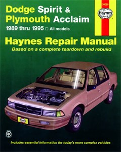 Bildel: Haynes Reparationshandbok, Dodge Spirit & Plymouth Acclaim, Universal