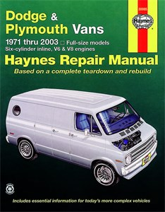 Haynes Reparationshandbok, Dodge & Plymouth Vans, Universal