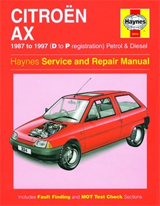 Haynes Reparationshandbok, Citroën AX Petrol & Diesel, Universal