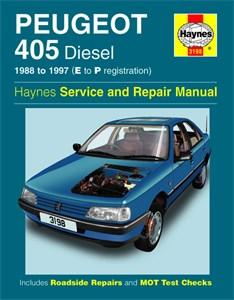 Haynes Reparationshandbok, Peugeot 405 Diesel, Universal