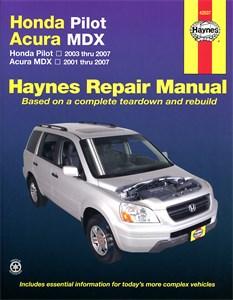 Haynes Reparationshandbok, Honda Pilot & Acura MDX