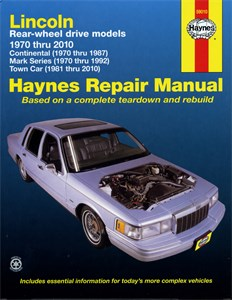 Haynes Reparationshandbok, Lincoln Continental Mark Series, Lincoln Continental, Mark Series, Town Car