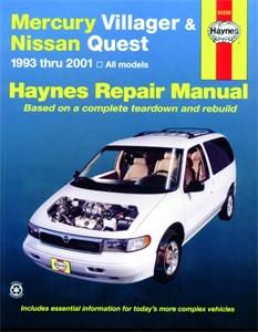 Haynes Reparationshandbok, Mercury Villager & Nissan Quest, Universal