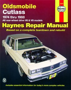 Haynes Reparationshandbok, Oldsmobile Cutlass