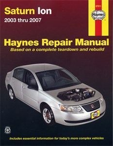 Haynes Reparationshandbok, Saturn Ion