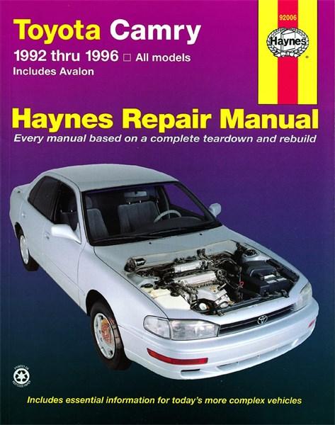 haynes reparationshandbok toyota camry avalon universal car parts. Black Bedroom Furniture Sets. Home Design Ideas