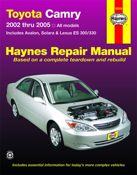 haynes reparationshandbok toyota camry avalon universal car parts. Black Bedroom Furniture Sets. Home Design Ideas