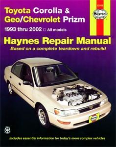 Haynes Reparationshandbok, Chevrolet Prizm, Toyota Corolla & Geo/Chevrolet Prizm
