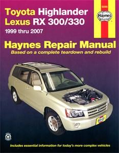 Haynes Reparationshandbok, Lexus RX-300, Toyota Highlander & Lexus RX-300/330