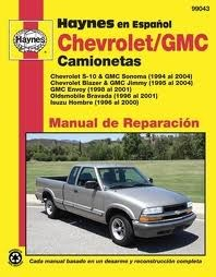 Haynes Reparationshandbok, Chevrolet S-10 Camionetas