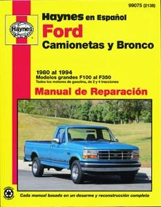 Haynes Reparationshandbok, Ford Camionetas & Bronco