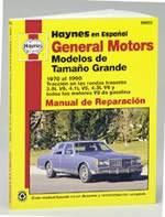 Haynes Reparationshandbok, GM Modelos de Tamaño Grande, General Motors Modelos de Tamaño Grande