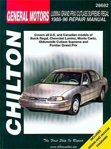 GM: Lumina/Grand Prix/Cutlass Supreme/Regal 1988 - 97