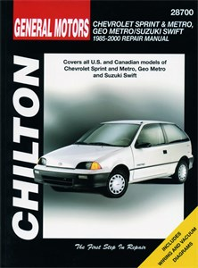 Haynes Reparationshandbok, Chevrolet Sprint, Suzuki Swift, Chevrolet Metro & Sprint, Geo Metro & Suzuki Swift