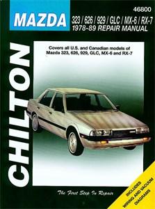 Haynes Reparationshandbok, Mazda 323/626/929/GLC/MX-6/ RX-7