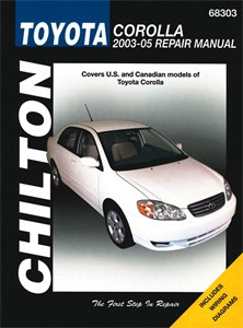 USA Chilton Car Manual, Toyota Corolla