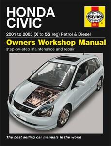 Haynes Reparationshandbok, Honda Civic Petrol & Diesel, Universal