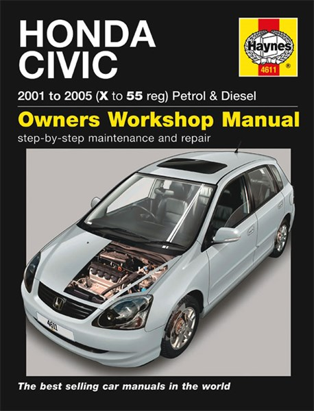 Haynes reparationshandbok honda civic petrol diesel for Honda civic service