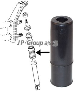 Cover/Rubber Boot, shock absorber, Front, Front axle, Rear, Rear axle, Upper