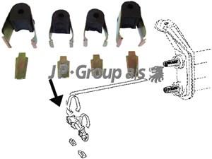Lagring, stabilisator, Framaksel