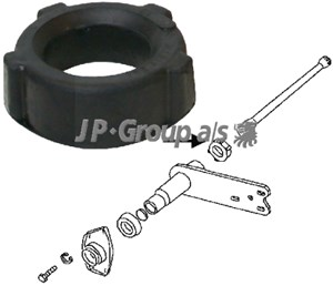 Bushing, spring shackle, Rear axle, Inner, Outer, Left, Right