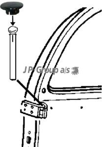 Reservdel:Audi 80 Gångjärn, dörr