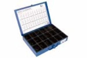 Tarvikelaatikko peltiruuvit & laatat, musta, Universal