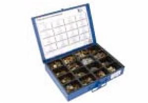 Tarvikelaatikko peltimutteri & tunnuslaatat, Universal