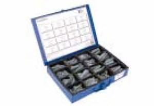 Værktøjskasse trykfjedre 16 størrelser, Universal