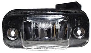 Belysning, registreringsskylt, Höger eller vänster