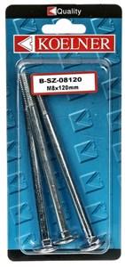 Låsskruv, 6x80 zink 6 st, Universal