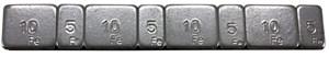 Balanseringsvekt, 4 x 5 g + 4 x 10 g, Universal