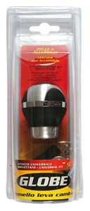 "GEAR SHIFT KNOB ""GLOBE"" BLACK, Universal"